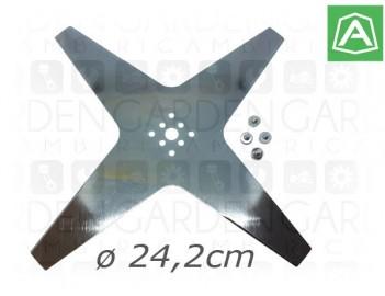 Ambrogio 075Z07800A Lama 4 taglienti 24,2cm